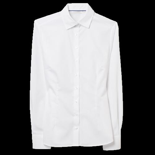 Damen Bluse, fitted cut, 1/1 Arm, weiß
