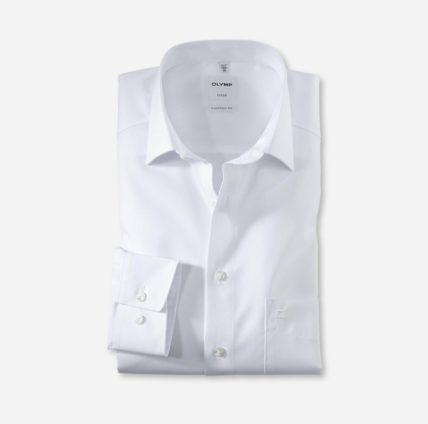 Oberhemd Luxor, 1/1 Arm, weiß, comfort fit, extra langer Arm