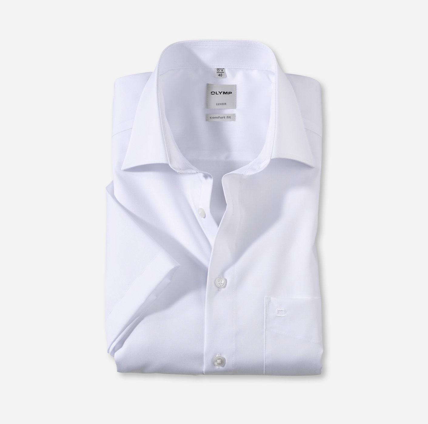 Oberhemd Luxor, 1/2 Arm, weiß, comfort fit