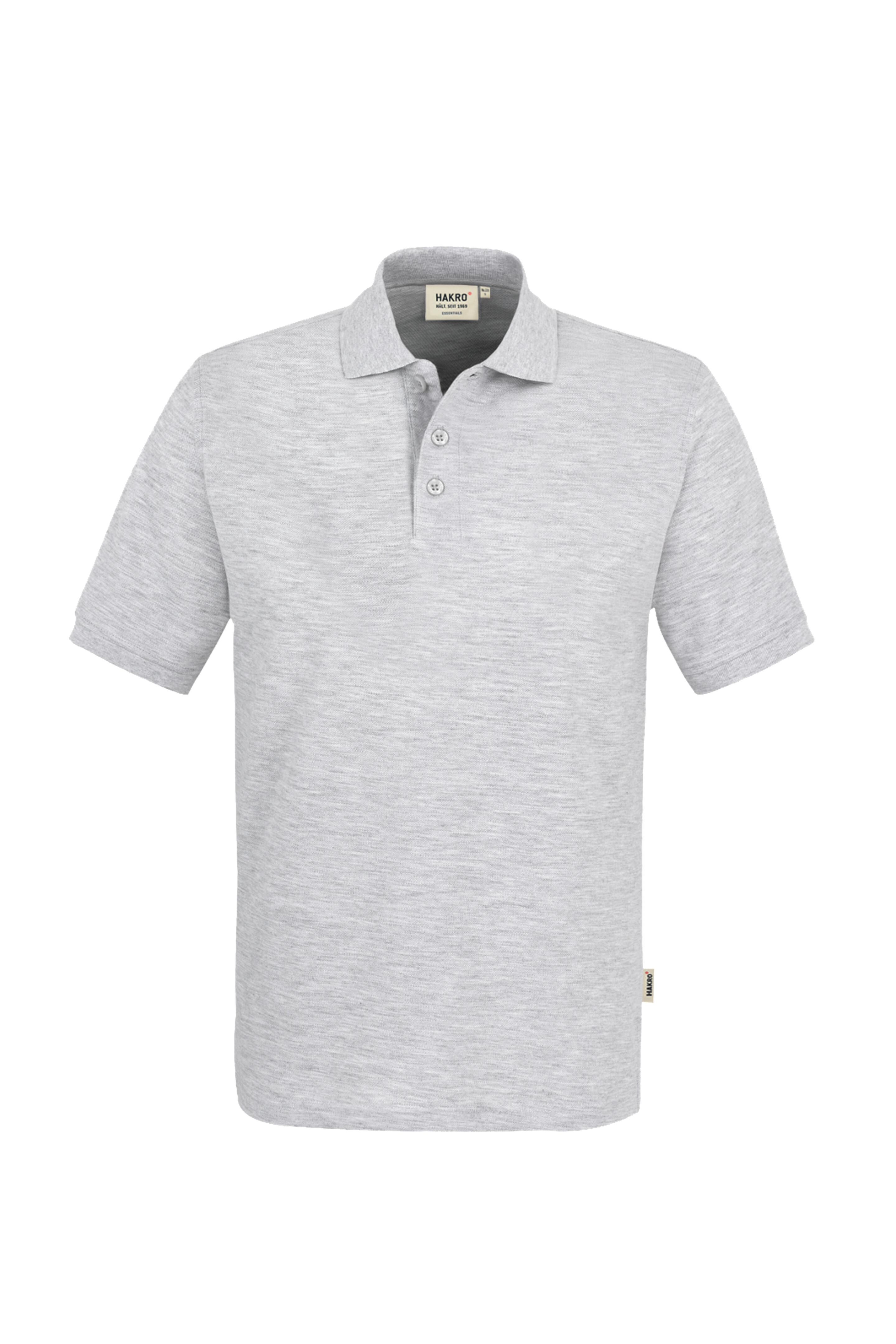 Polo-Piqué-Hemd, ash-meliert, Einstickung E+H