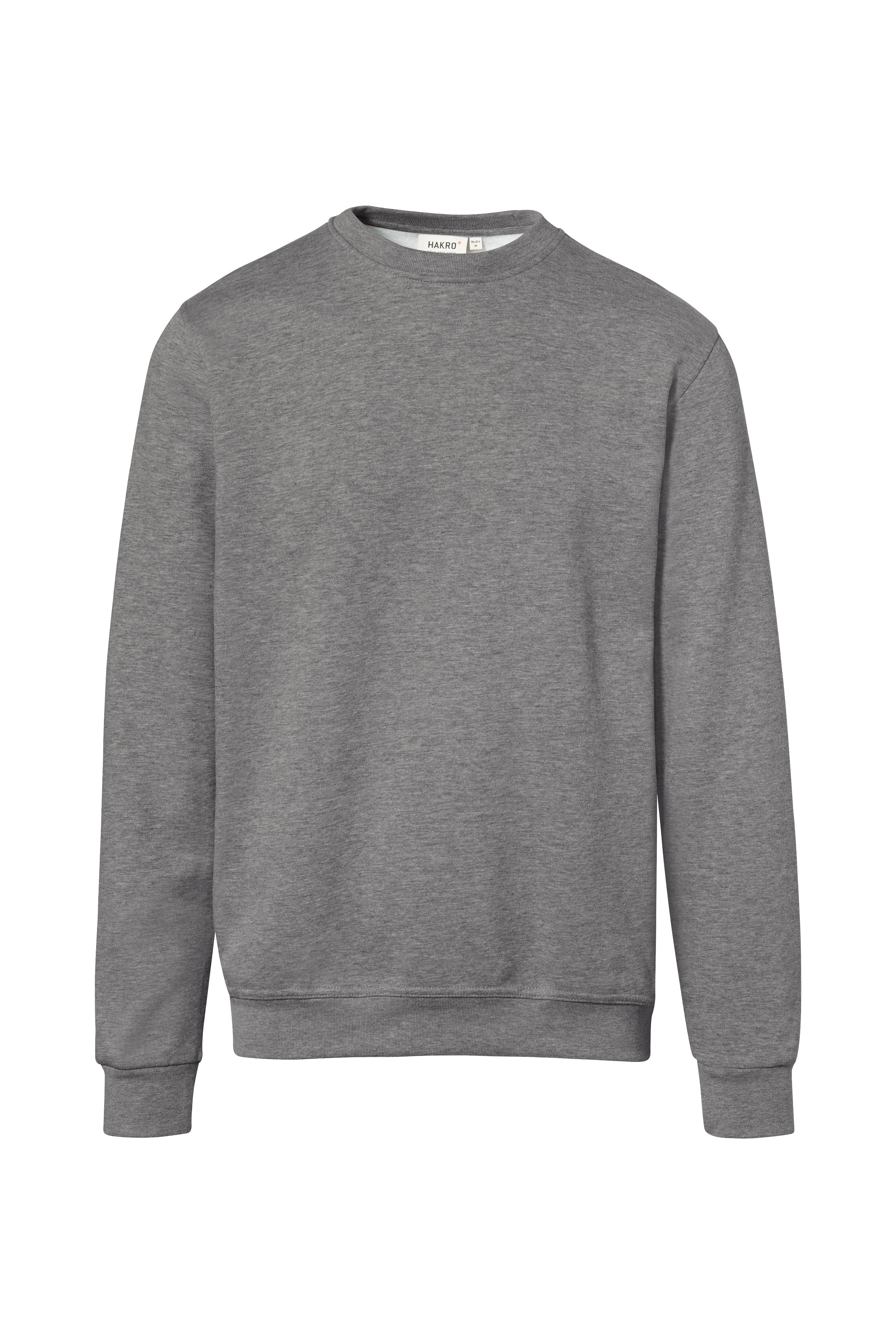 Sweatshirt, grau-meliert, Einstickung >Endress + Hauser< 3-fbg. weiß/schwarz/tinte