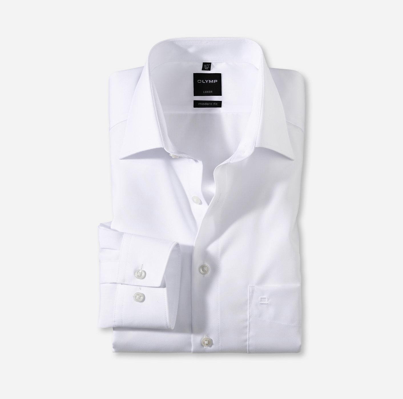 OLYMP Luxor Modern Fit, Businesshemd, 1/1 Ärmel, New Kent, Weiß
