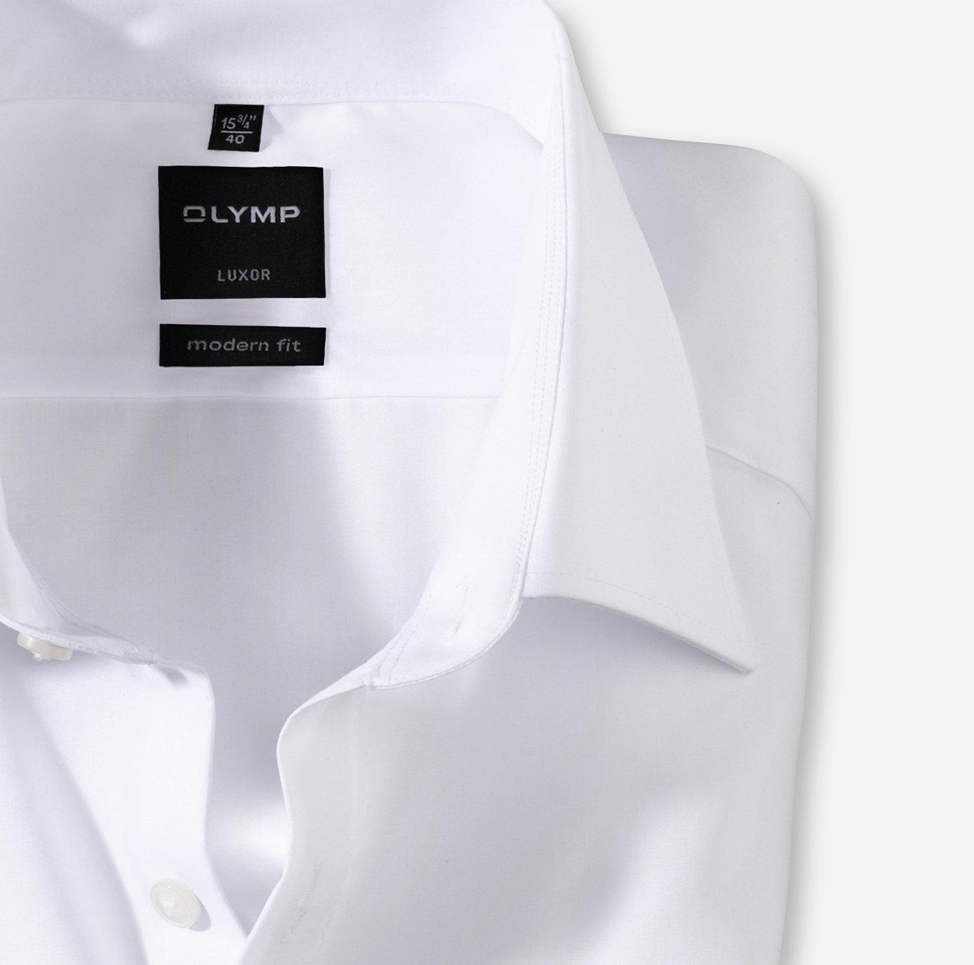 Oberhemd Luxor, 1/1 Arm, weiß, modern fit, Ärmellänge 69cm, E+H