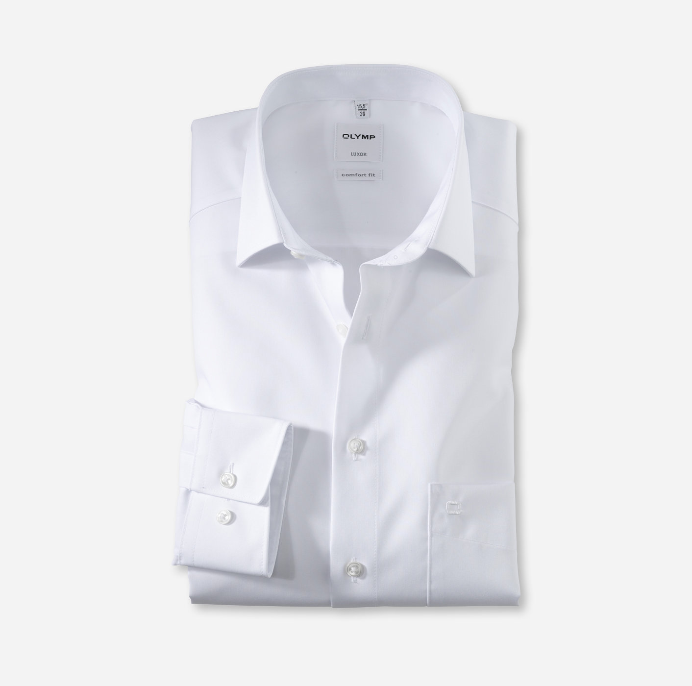 Oberhemd Luxor, 1/1 Arm, weiß, comfort fit