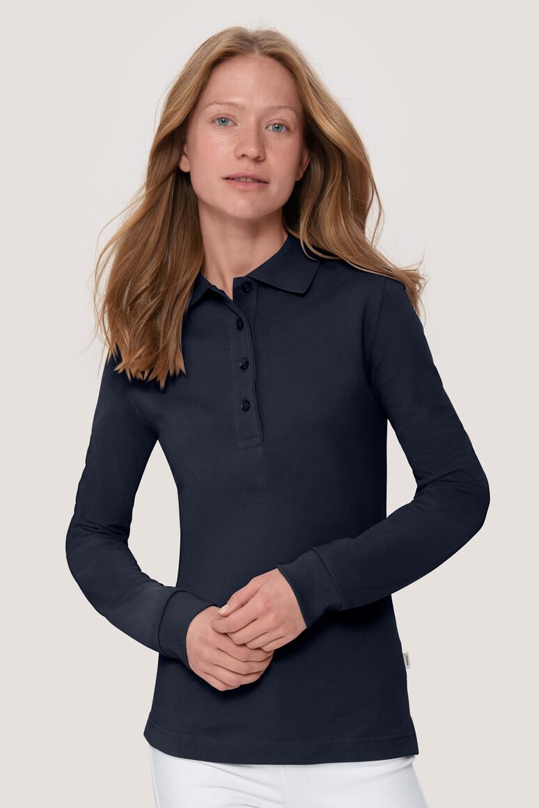 Women-Longsleeve-Poloshirt Performance, tinte